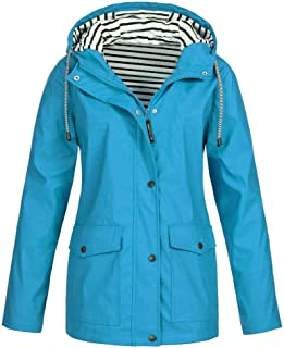 LILILIHOT - Abrigo para mujer, impermeable, con capucha, resistente al viento, para invierno, para exteriores