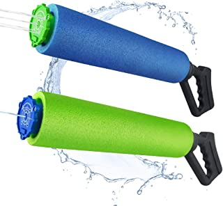 Baztoy Water Gun Water Blaster Super Soaker Squirt Toys for Kids High Capacity Swimming Pool Sea Summer Water Fighting Game Outdoor Toys Outside for Boys Girls and Adults (2 Pack)