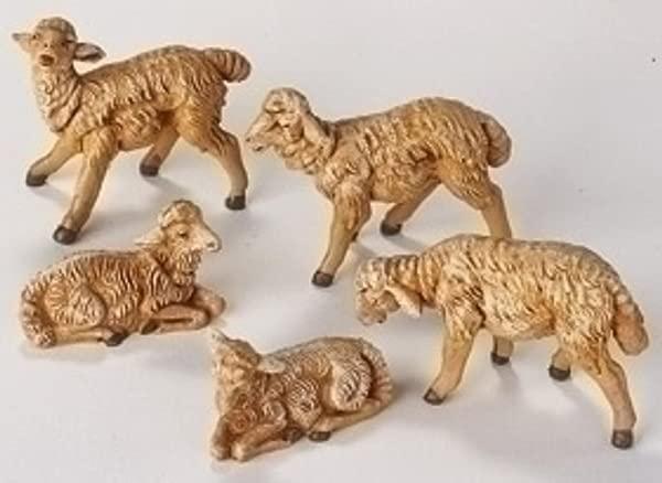 Fontanini By Roman Sheep Nativity Figurine 5 Piece 5 Inch Each