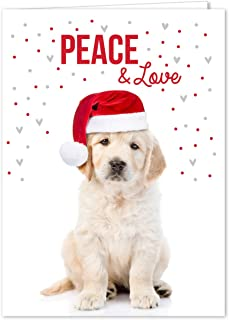 Labrador Love Holiday Card Pack - Set of 25 cards - 1 design, versed inside with envelopes