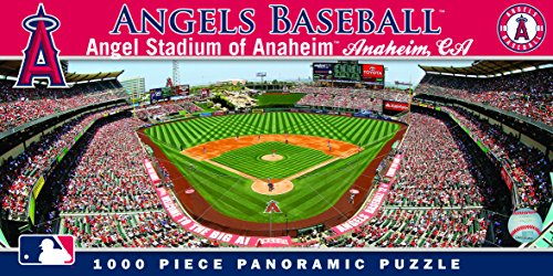 MasterPieces MLB Angels Baseball Stadium Panoramic Jigsaw Puzzle, Anaheim, 1000 Pieces