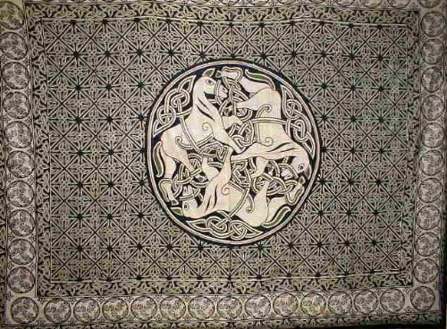 India Arts Celtic Circle of Horses Tapestry-Bedspread-Home Decor