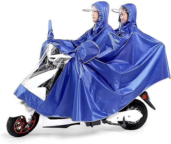 XULONG Poncho d'équitation Adulte de Scooter électrique, Double Moto électrique de Poncho de Bicyclette électrique épaissie AugHommestant Le Style d'engrenage de Pluie d'équitation facultative