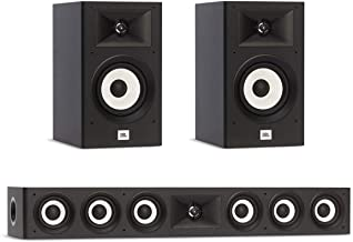 JBL 3.0 System with 2 JBL Stage A130 Bookshelf Speakers, 1 JBL Stage A135C Center Speaker