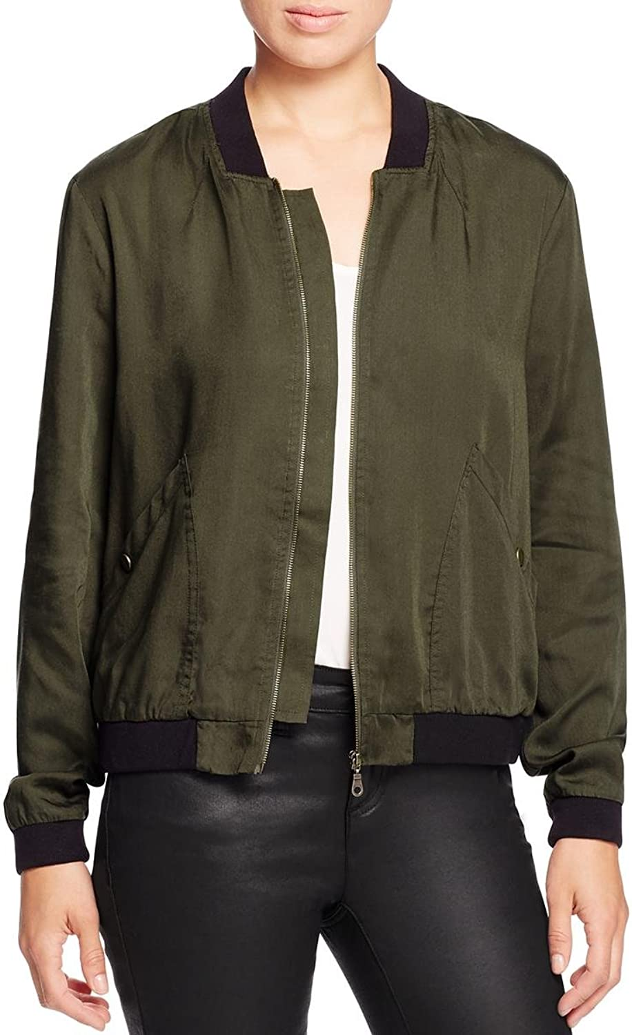 Alison Andrews Womens Tencel Fall Bomber Jacket