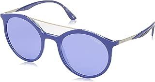 VOGUE Women's 0vo5242s Round Sunglasses, top dark blue violet transparent 50.0 mm