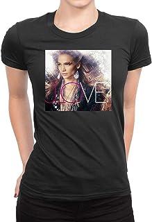 SHIQINQ Hombre Jennifer Lopez Aka Summer Short Sleeve High
