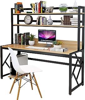 XIALIUXIA Mesa para Computadora Escritorio Oficina Estudio 2 Estantes Computadora Mesa De Oficina Mesa para PC Mesa De Tr...