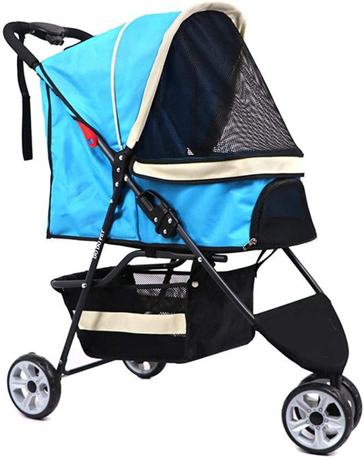 Daeou Pet StrollerLight Folding Dog cat cart small and medium trolley
