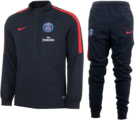 Nike PSG/NK Dry TRK Suit SQD K – Tuta Paris Saint Germain para Chicos, Uomo, PSG Y NK Dry TRK Suit SQD K