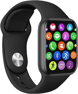 ساعة ذكية للرجال والنساء مضادة للماء IP67 بشاشة لمس كاملة 1.75 انش بمتعقب لياقة بدنية بلوتوث ومعدل ضربات القلب وضغط الدم و...