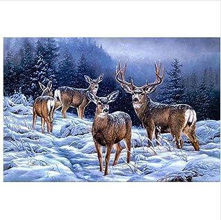 Malen Nach Zahlen Zahlen Zahlen Erwachsene Schnee Elch Abstrakte Grafik Wand Dekorgeschenke Für Erwachsenen 16X20 Inch Holzrahmen B07PNRC254  Sofortige Lieferung 169cbb
