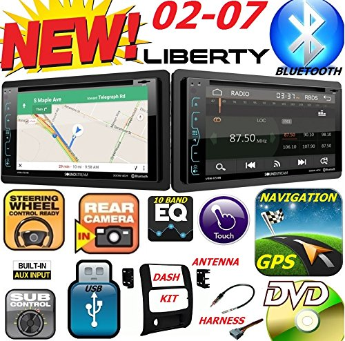 2002-2007 JEEP LIBERTY Double Din DVD CD GPS Navigation Bluetooth Radio Stereo