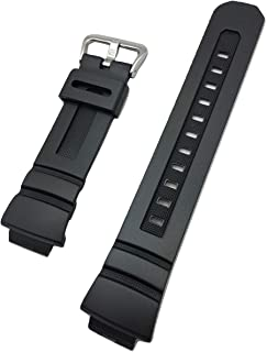 The Black Mamba | 16mm Black G Shock Style Rubber Polyurethane (PU) Material Watch Band | Comfortable Tough Durable Replac...