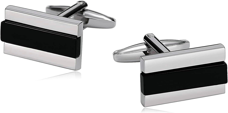 AMDXD Popular standard Stainless Steel Cufflinks for Silv Men ...