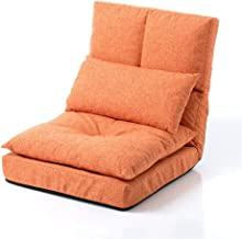 Lounge Sofa Bed Folding Adjustable Floor Lounger Sleeper Futon Soft Mattress Seat Chair Pillow Living Room Bed Room Furnit...