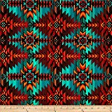 Timeless Treasures Southwest Blanket Turquoise, Quilting Fabric by the Yard
