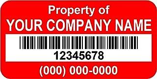 Asset Tags Barcode - Asset Labels - Custom (400)