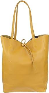 Girly Handbags Open Top-echte Leder-Handtasche