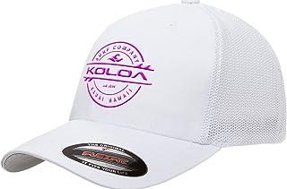 Koloa Surf-Premium Embroidered 34e Flexfit 6511 Truckers Caps White/Pink