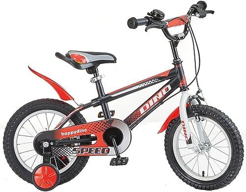 mejor marca Los Niños de 3 3 3 a 7 años de Edad, Niños y niñas Bicicleta Bicicleta de Coche de 12 14 16 Pulgadas (Color   rojo and negro, Tamaño   14 Inches)  Envio gratis en todas las ordenes