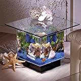 Midwest Tropical Fountain Aqua End Table Aquarium Tank