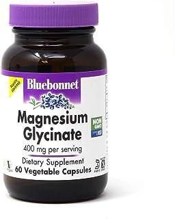 Bluebonnet Nutrition Magnesium Glycinate, Soy-Free, Gluten-Free, Non-GMO, Dairy-Free, Kosher Certified, Vegan, 60 Vegetabl...