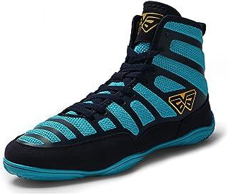 WJFGGXHK Boxing Shoes for Men Women Adult Boxing Footwear Indoor Outdoor Anti-Skid Lightweight Wrestling Shoes,Blue,39