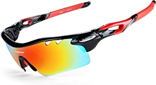 Gafas De Sol Polarizadas para Ciclismo con 5 Lentes Intercambiables UV400 Y Montura De TR-90, Gafas para MTB Bicicleta Montaña 100% De Protección UV