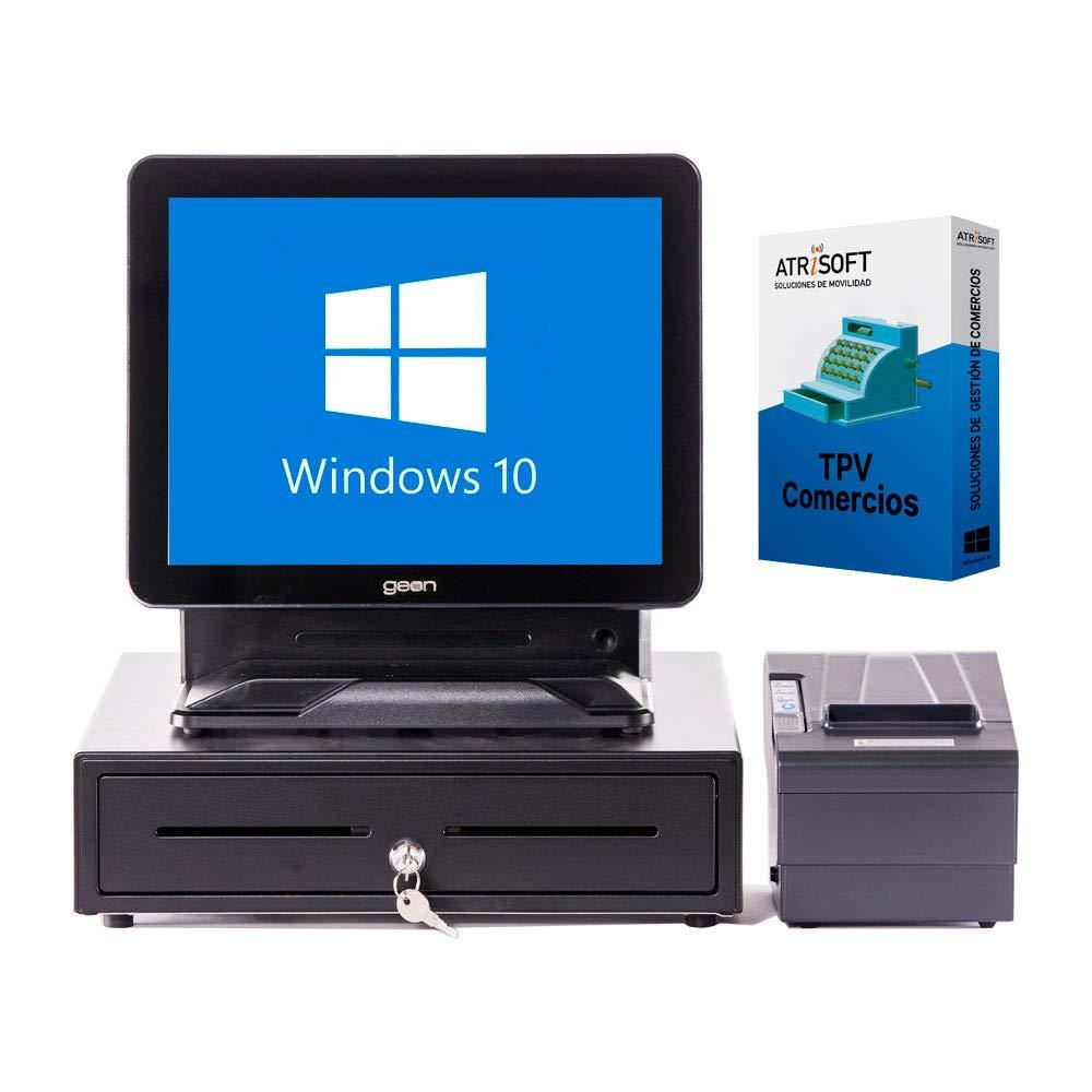 Pack GEON comercios TPV táctil Completo + cajón + Impresora 80mm + Windows 10 + ferreterías, Tiendas de informática, supermercados: Amazon.es: Informática