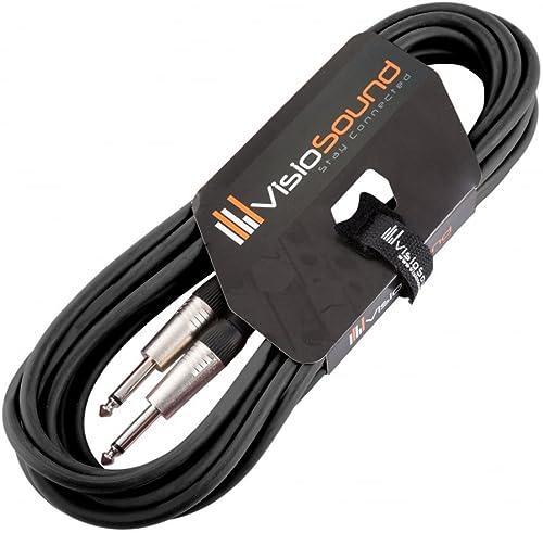 Câble guitare Jack à Jack mono 6,35mm / Instrument/Câble patch / 6 couleurs 6m Noir