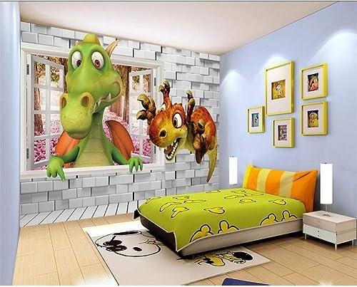 mejor servicio YYBHTM Fondo De La Habitación De Los Niños Niños Niños Parojo De Dinosaurio 3D Dinosaurio Estéreo De Dibujos Animados Habitación De Bebé Fondo De Papel Tapiz 3D Mural  Entrega gratuita y rápida disponible.