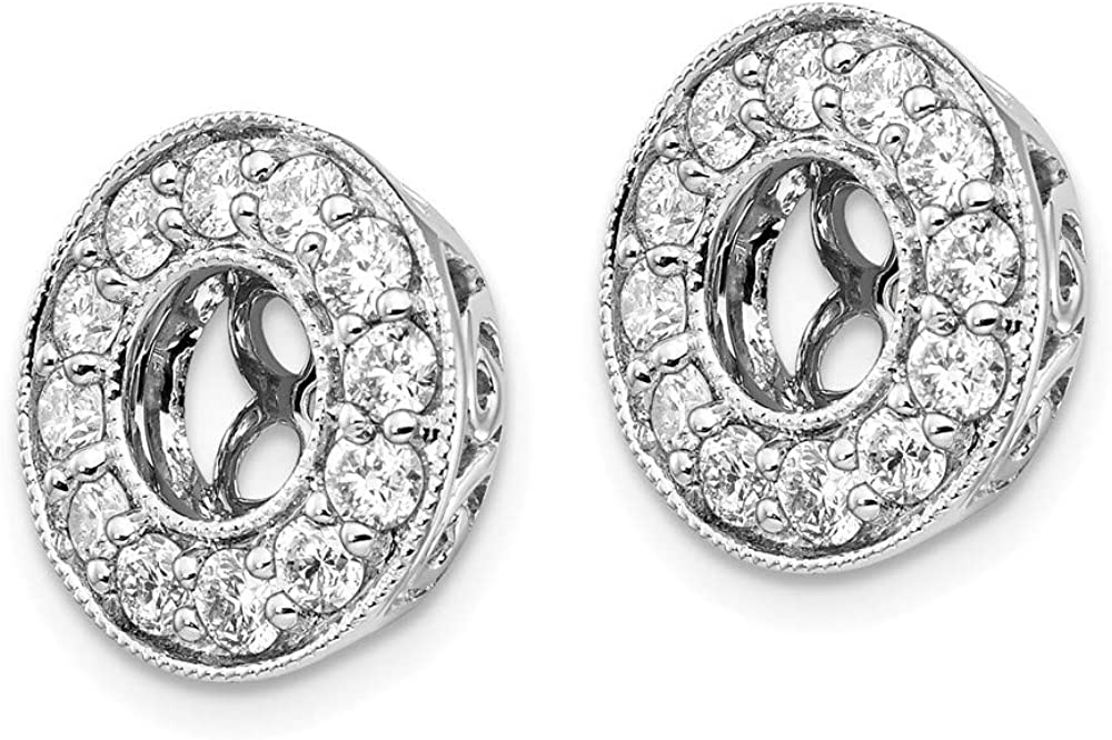 Solid 14k White Gold Lab Grown Diamond Earring Jackets (.96 cttw.)