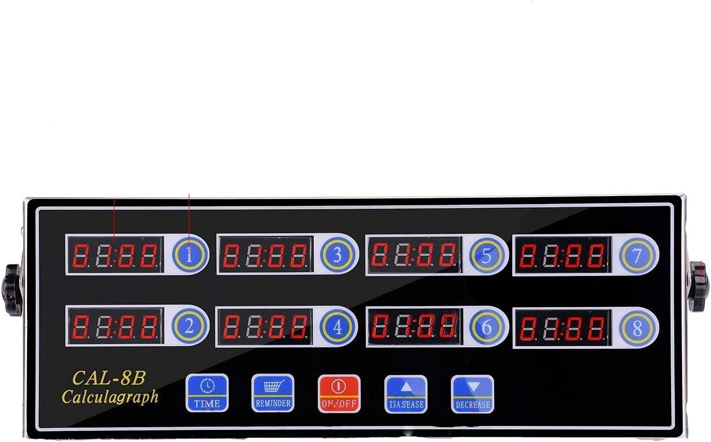 UOOYE 8-Channel Max 81% OFF Kitchen Timer Digital Display ! Super beauty product restock quality top! Clock LED Reminder