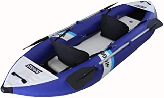 Brine Marine Inflatable Kayak 2 Person Super Stable, Allows You to Stand up and Fish. Large Capacity of 550lb. 10'6