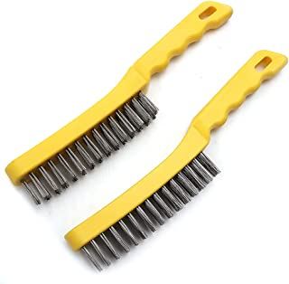 100MM X 140MM SILVERLINE PLASTIC D-HANDLE STEEL WIRE BRUSH RUST REMOVAL