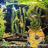 Mcottage 13cm Aquarium Deko Cartoon Harz Ananas Haus Deko