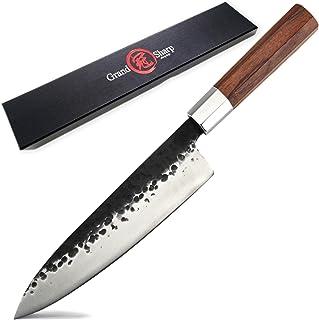 Couteau à cheval à la main Couteau Japonais Couteaux de cuisine Haute carbone Gyuto Pro Thinging Outils de cuisson African...