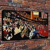 Pintura sin Marco Eventos Musicales y Deportivos Impresiones en Lienzo en Color Mural Dormitorio Sala de Estar decoración del hogar 50X75cm