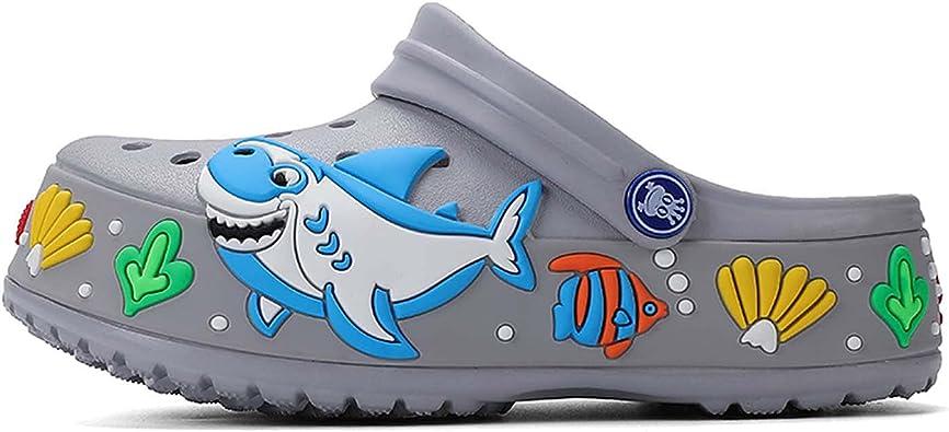 DIOXADOP Little Kids Clogs Boys Girls Lightweight Garden Clogs Shoes Slip on Water Beach Pool Shower Slippers Sandals