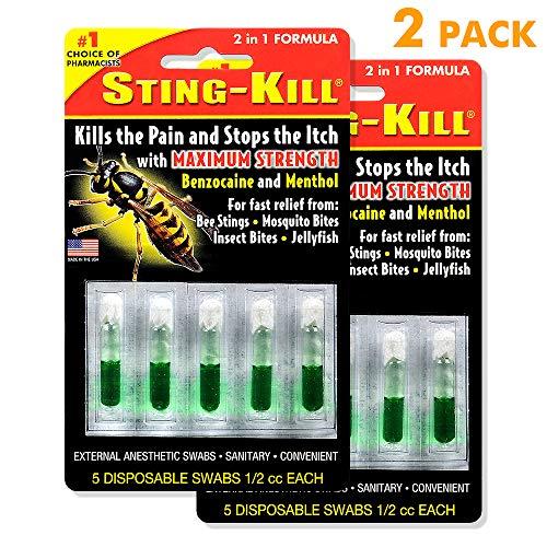 Sting-Kill External Anesthetic Swabs, Package of 5 Swabs (2 Pack)