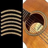 Pegatinas para guitarra acústica - Roseta/Purfling Soundhole - Rayas - espiga de madera