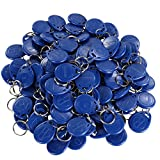 UHPPOTE Proximity 125KHz RFID EM-ID Card Keyfob for Door Access Control - Read Only - Color Blue - 100 Pack)