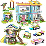 Treehouse Building Kit, Happy Family Party Building Blocks Toys, Creative Construction Play Set - Storage Box with Handle & Wheels - Learning Roleplay Gift for Kids Boys Girls Age 6-12 (1556 PCS)