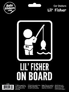 WMI Designs (10036) Lil' Fisher on Board Sticker