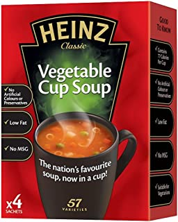 Heinz Cream of Vegetable Cup Soup - 76g - Pack of 4 (76g x 4)