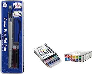 Lote 1 Pluma Caligráfica Pilot Parallel Pen plumin 6.0mm Recargable + Caja con 12 Recambios Surtidos Pluma Pilot Parallel Pen