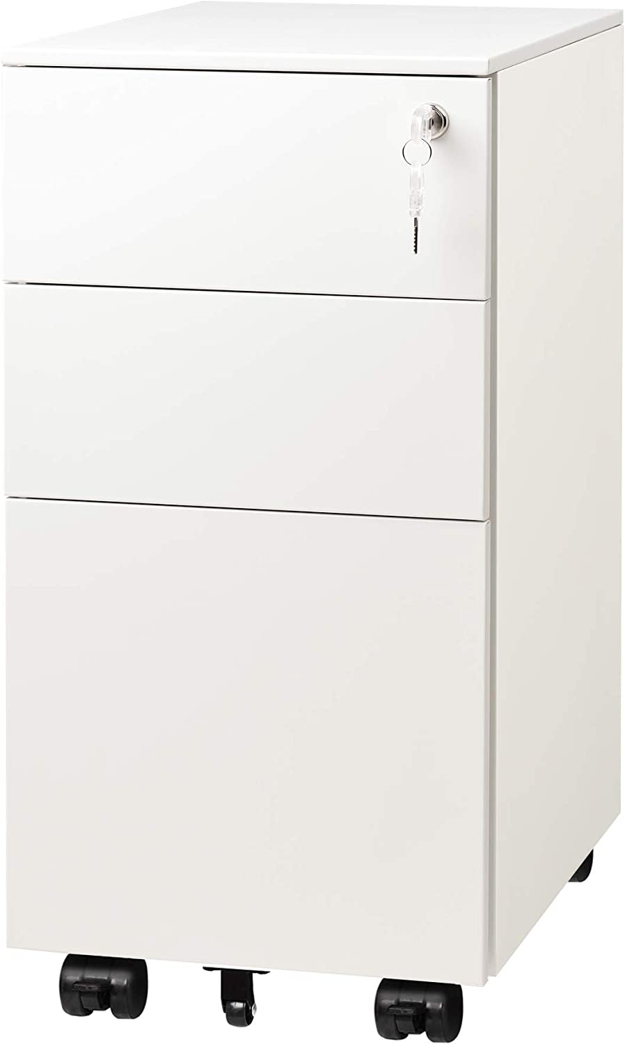 DEVAISE 3 Drawer Vertical File wi Mobile Cabinet Award Filing Product