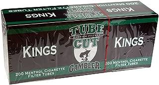 Gambler Tube Cut Menthol King Size RYO Cigarette Tubes 200ct Box (5 Boxes)