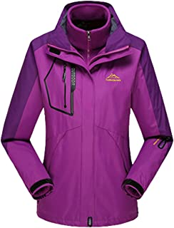 Lottaway Detachable Fleece Waterproof Outdoor Snow Ski-wear Climbing Parka Coat